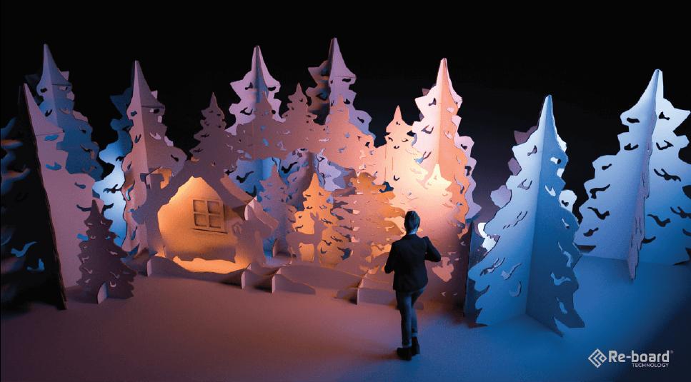 """Winter Wonderland for retail"" (Re-board® Technology)"